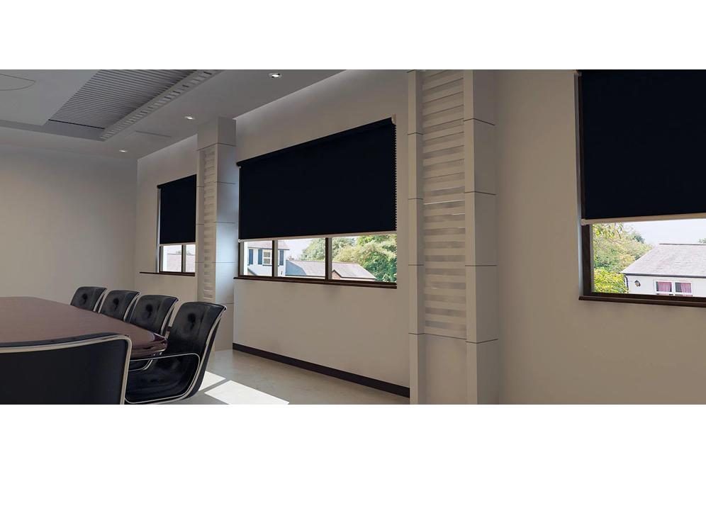Blackout Blinds Motorised Roller Blinds Office Blinds